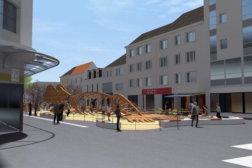Illustration 3D :Image non contractuelle – Bureau d'Etudes Aménagement Urbain – Ville de Saint-Nazaire