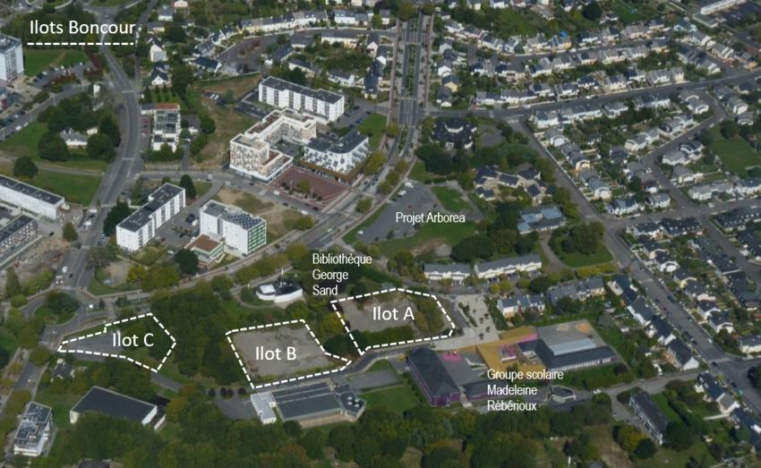 Près de la médiathèque Anne-Frank, les îlots Boncour vont faire l'objet d'aménagements urbain et paysager et d'un programme de logements individuels.