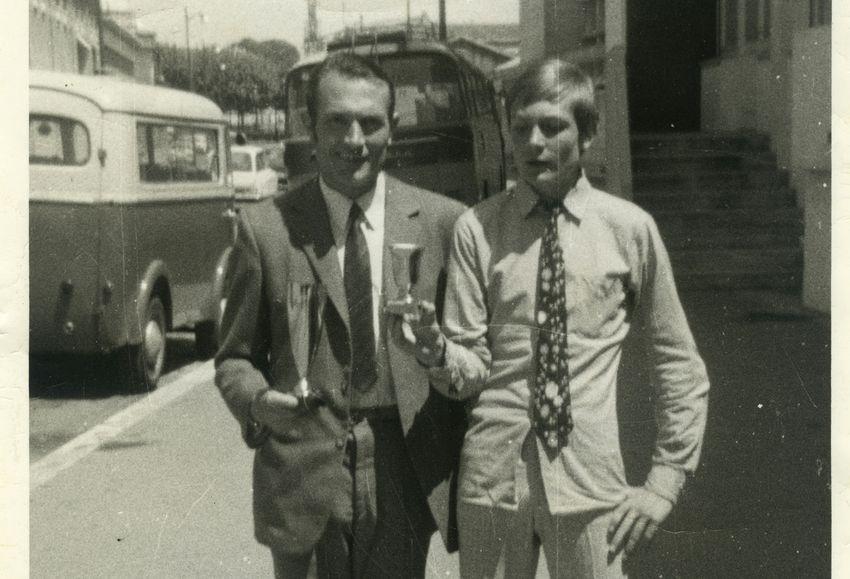 Le 24 mai 1970, le jour de ses 36 ans, à Bordeaux, Albert Héloir est vainqueur en senior et son fils Patrick vainqueur en minime. © collection personnelle