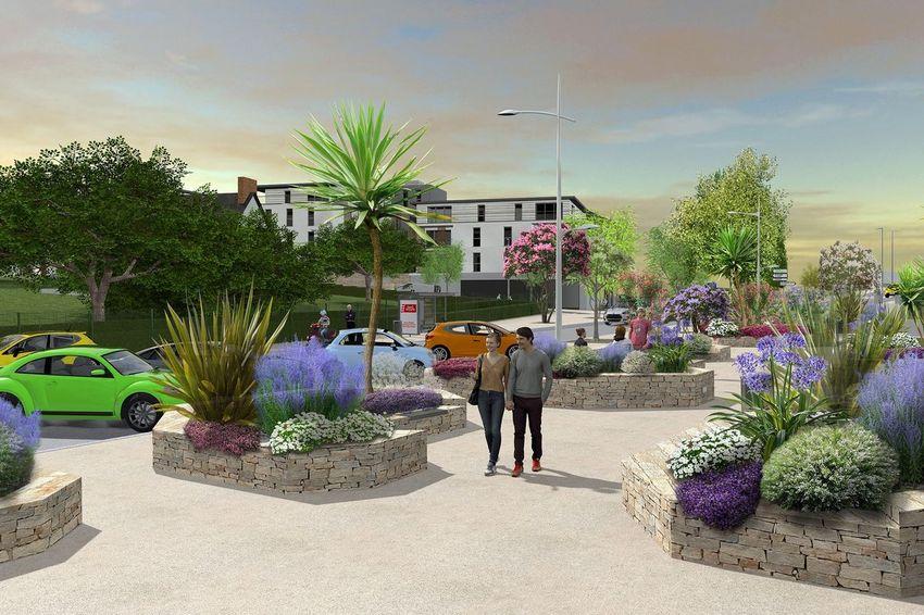 Vue Place Jacques Tati © Bureau d'études Aménagement urbain – Ville de Saint-Nazaire
