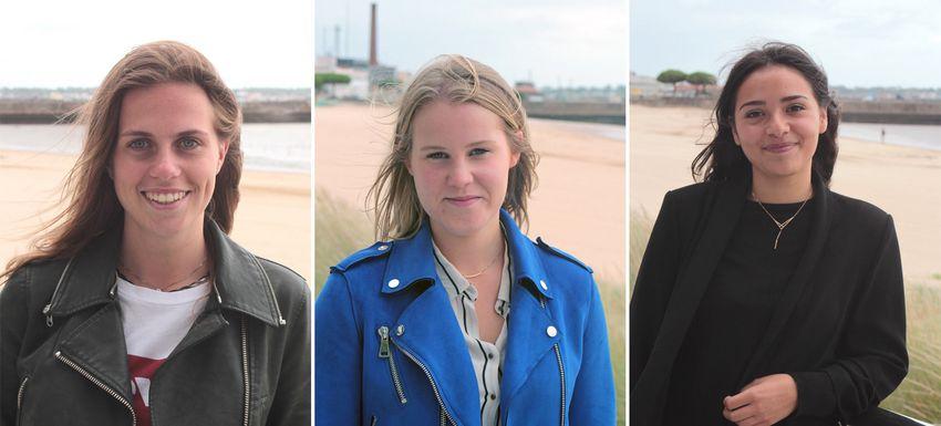 De gauche à droite : Camille, Lara et Elise.