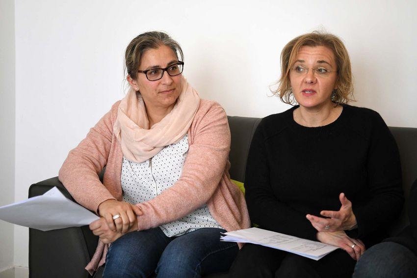 Myriam Villemin et Valérie Gauthier à la tête de l'association Solidarité Estuaire. (©Ville de Saint-Nazaire - Christian Robert)