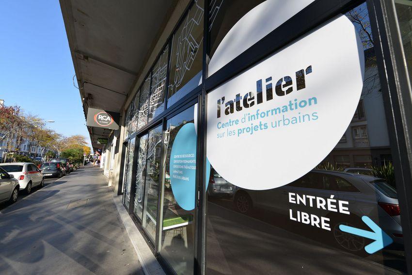 L'atelier, centre d'information sur les projets urbains.