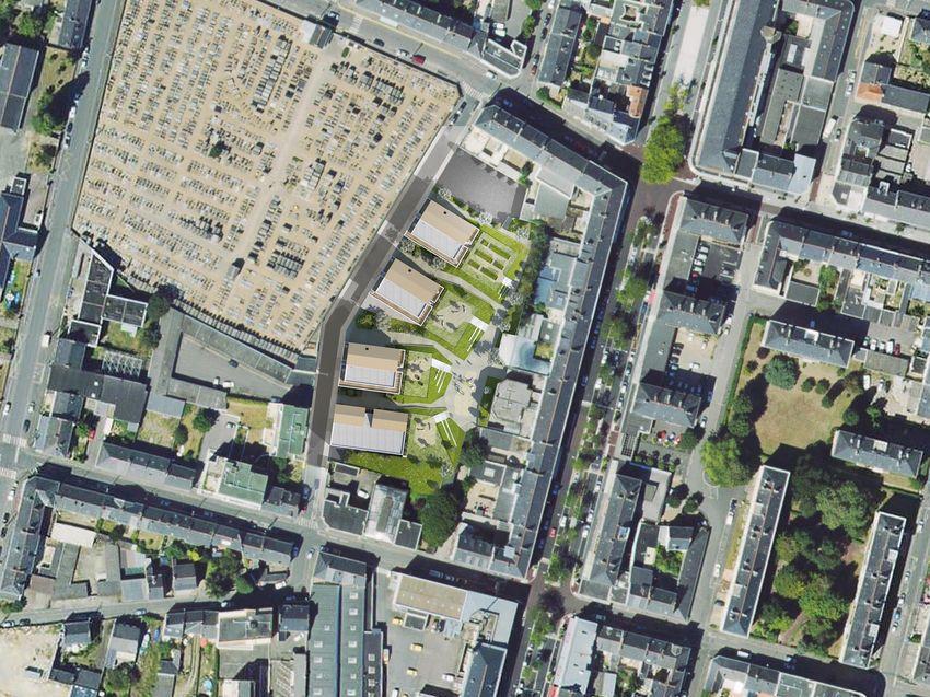 Vue aérienne de l'ilôt Le Bon.