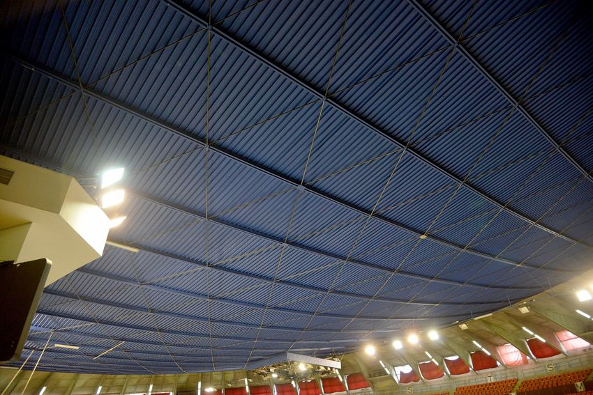 Les travaux de réparation des d'isolation de la toiture de la Soucoupe se sont achevés fin décembre 2017.