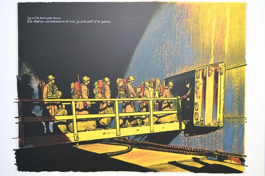 """""""La guerre d'Alan"""" de l'auteur Emmanuel Guibert, à la médiathèque Etienne Caux (©Ville de Saint-Nazaire - Martin Launay)"""