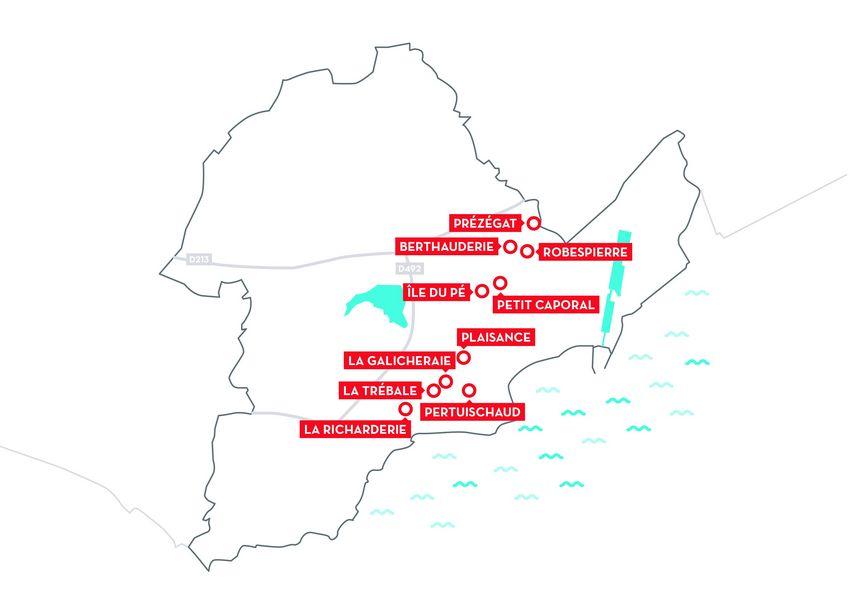 Les 10 quartiers du PRIR