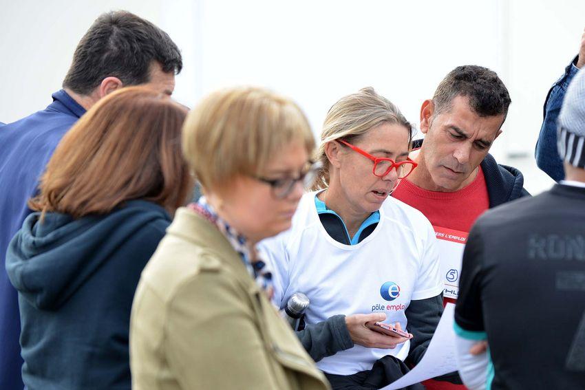 Candidats et recruteurs sont très entourés par les partenaires Pôle Emploi, Synergie et l'Esco44. (©Ville de Saint-Nazaire - Christian Robert)