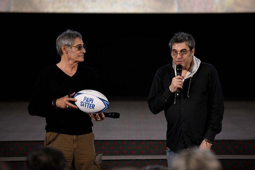 """Gérard Lanvin et Philippe Guillard lors de l'avant-première de """"Papi sitter"""" (©Ville de Saint-Nazaire - Christian Robert)"""