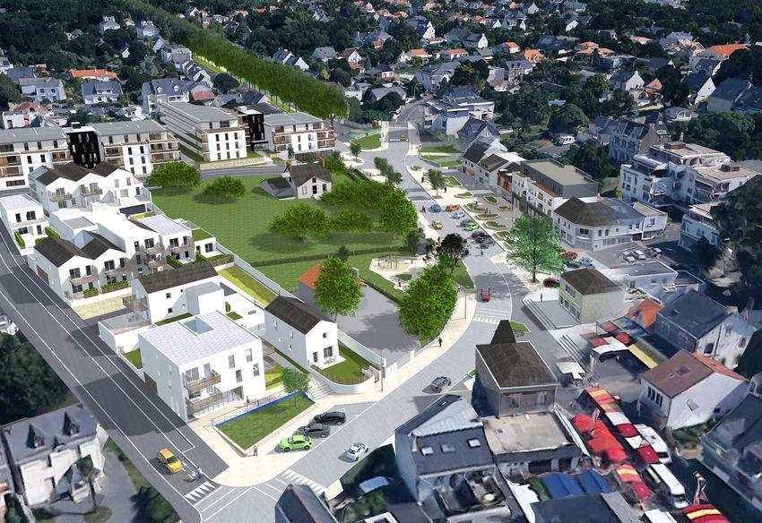 Vue d'ensemble du projet urbain de Saint-Marc ©VilledeStNazaire
