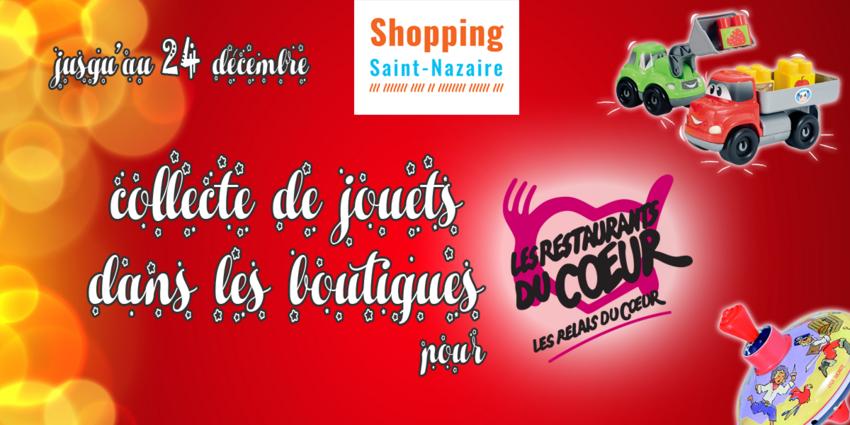 Affiche du Noël solidaire de Shopping Saint-Nazaire
