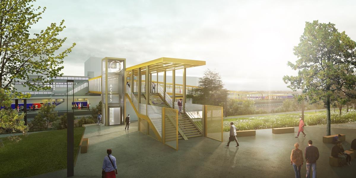Le nouvel accès par le Nord à la gare TGV de Saint-Nazaire.