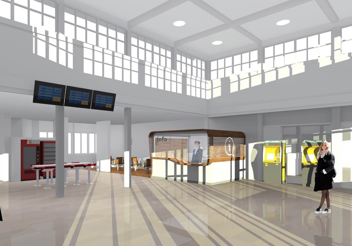 Le nouveau hall d'accueil de la gare TGV de Saint-Nazaire.