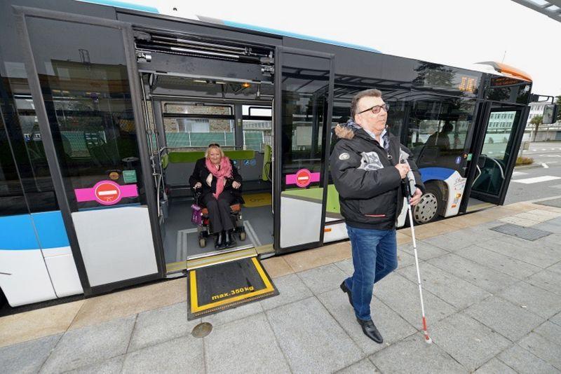 90 % des arrêts de bus sont aménagés.