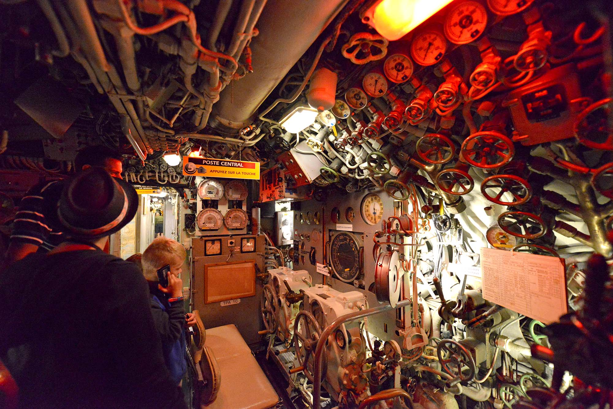 Visite audioguidée à l'intérieur du sous-marin Espadon. (©Ville de Saint-Nazaire - Martin Launay)