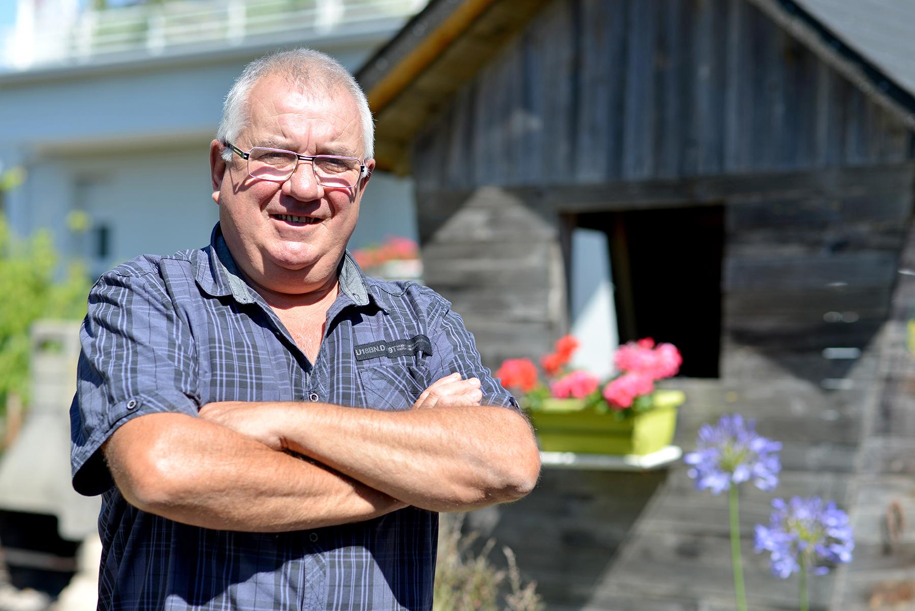 Joseph Bioret, 60 ans, habitant de L'Immaculée, retraité