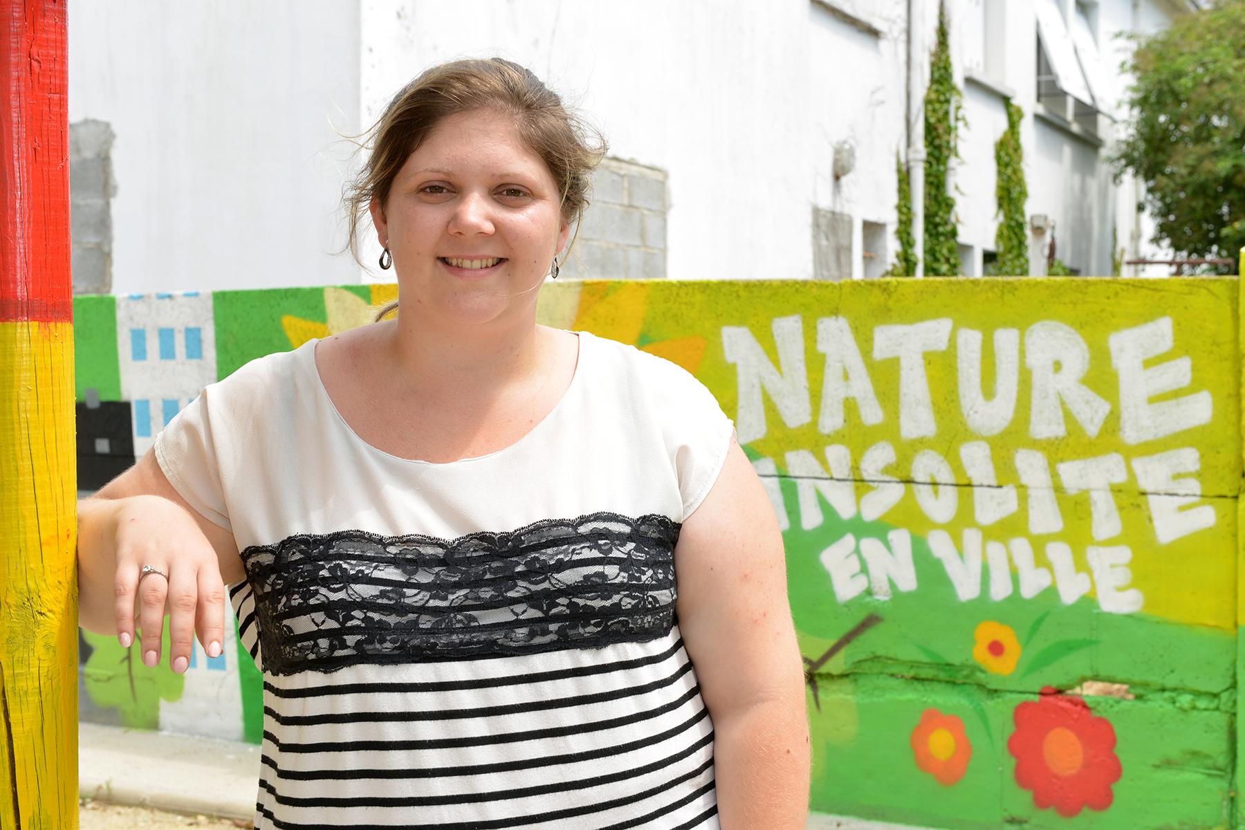 Axelle Sagot, habitante du centre-ville, est animatrice et mère de deux enfants.