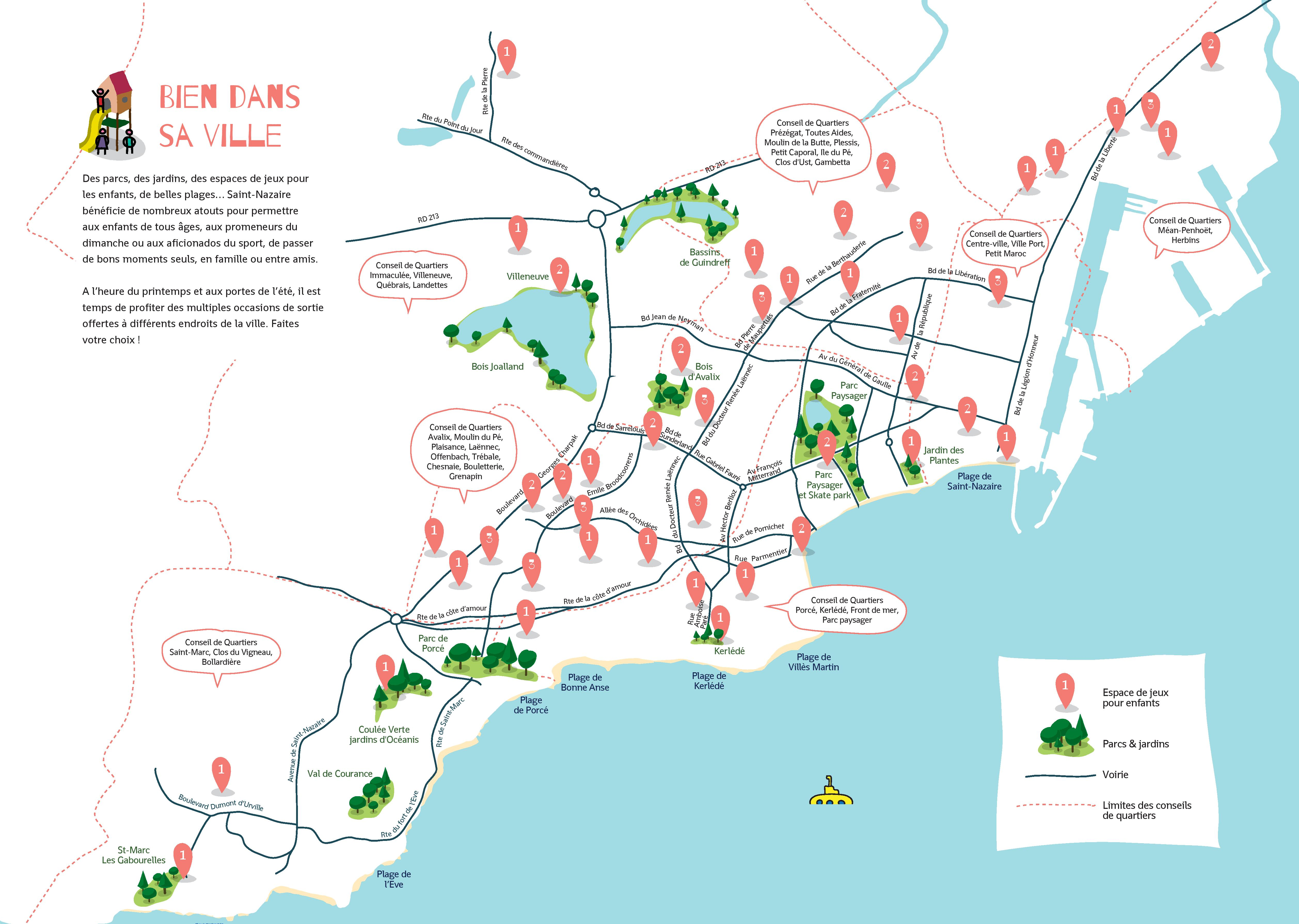 Cartographie des jeux pour enfants à Saint-Nazaire