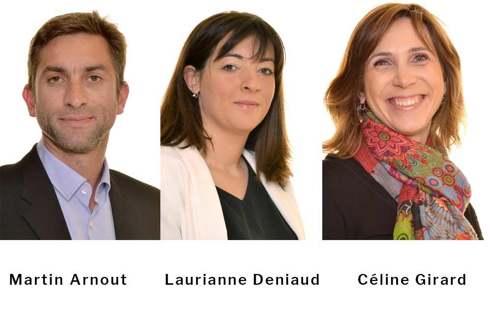 Martin Arnout, Laurianne Deniaud, Céline Girard.