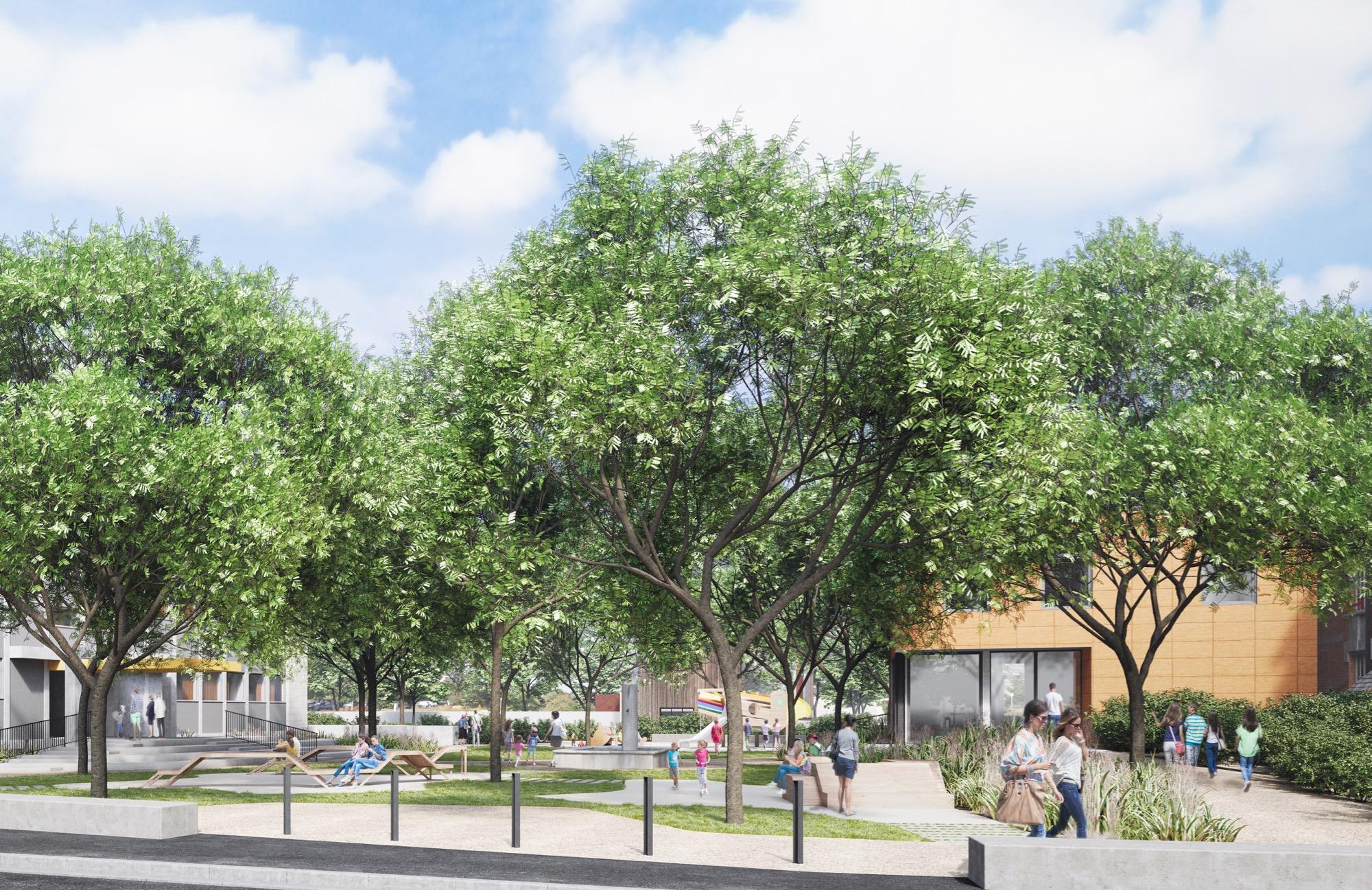 La surface totale d'espace végétalisée atteindra une superficie de près de 4 100 m2