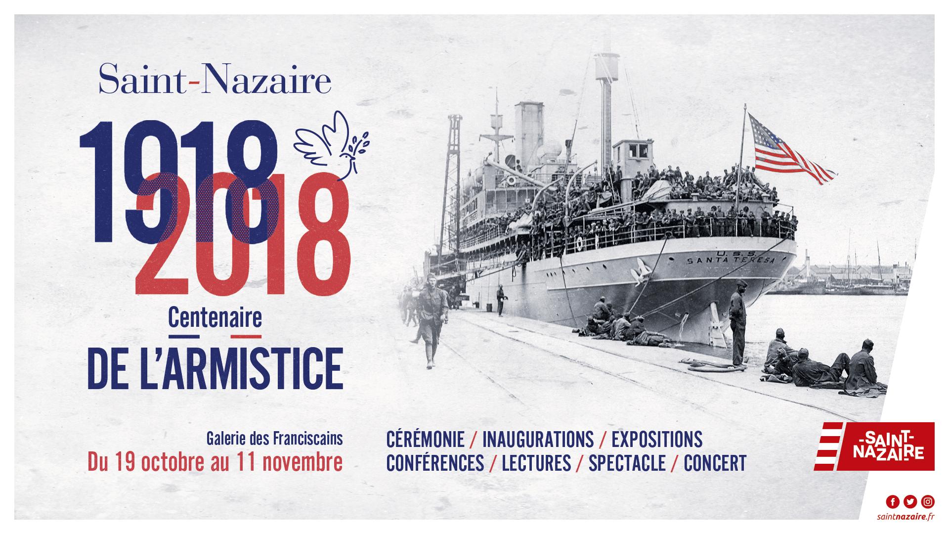 Centenaire de l'armistice de 1918 à Saint-Nazaire