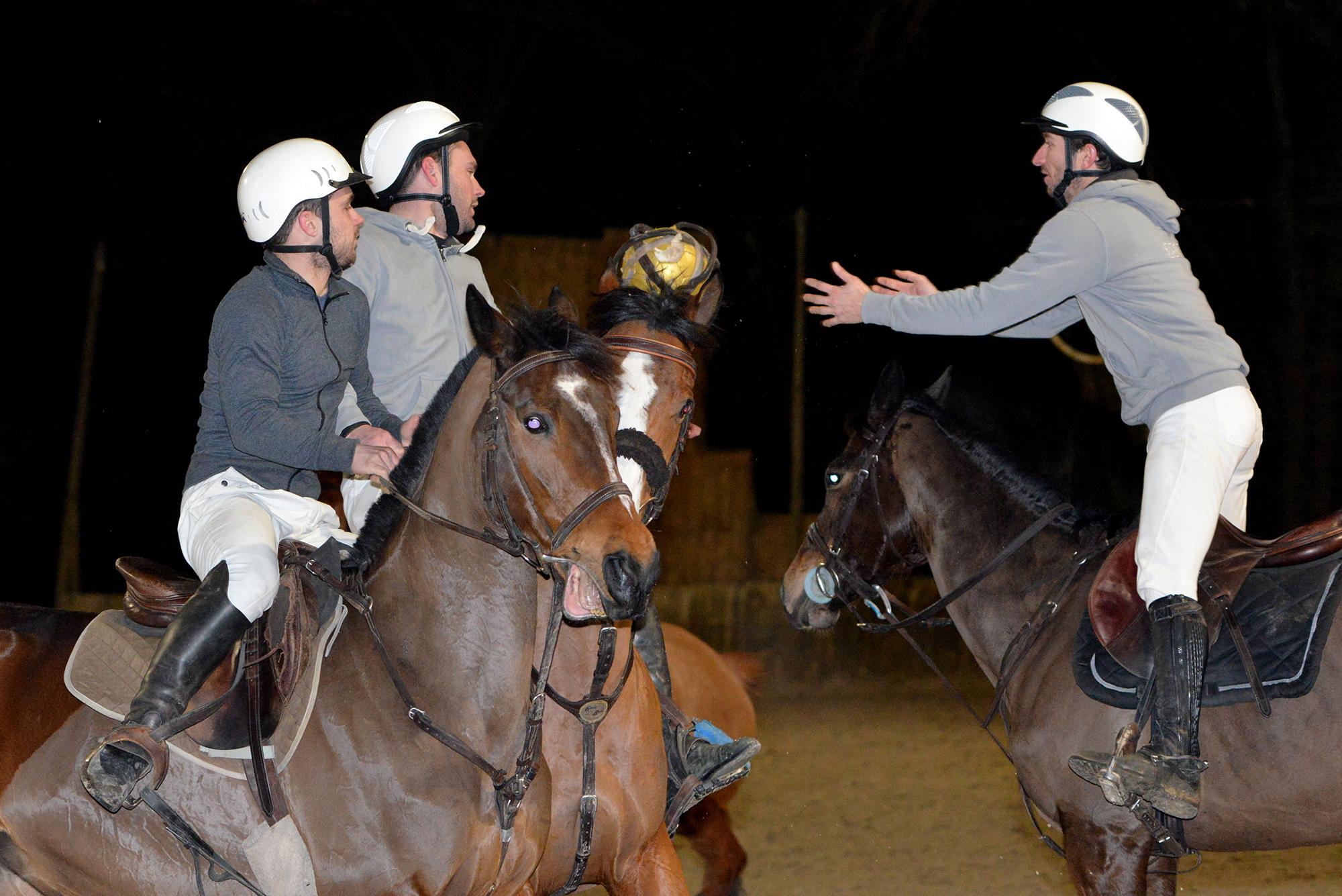 Ruddy Dayon (au centre) lors d'un entraînement au Sabot d'or (©Ville de Saint-Nazaire - Christian Robert)