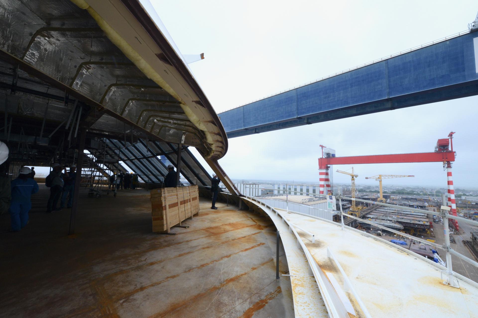 La coque du MSC Bellissima est presque terminée et 40% des aménagements sont réalisés.