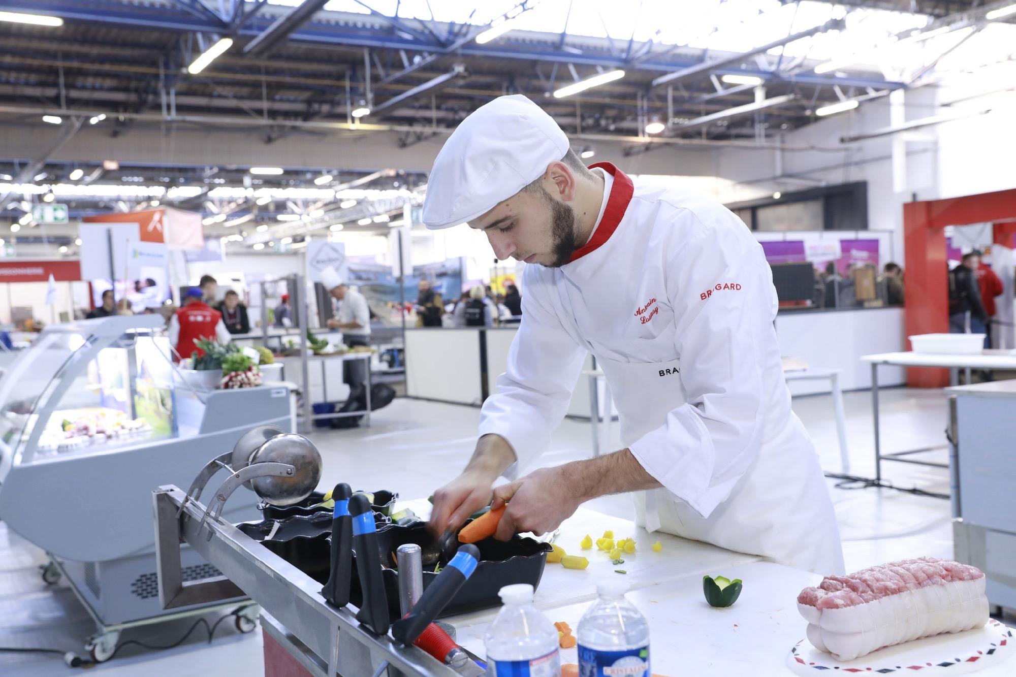 Antonin Launay (Boucherie) lors des finales nationales à Caen. © Worldskills France - Alain Potignon.