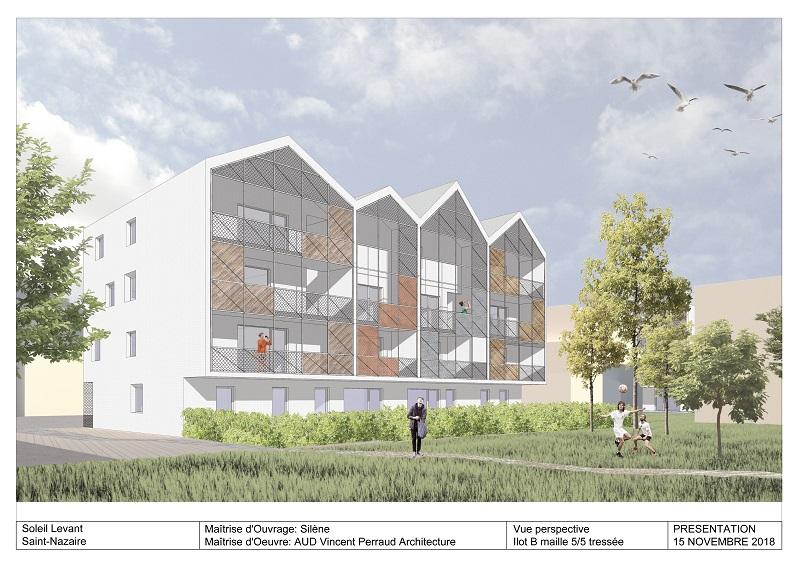 Visuel d'illustration îlot B – Image non contractuelle ©Vincent Perraud Architecture