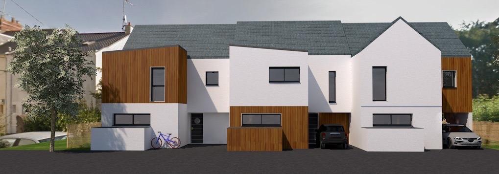 Exemple de maisons individuelles de type T4 et T5 © Groupe Berthelot