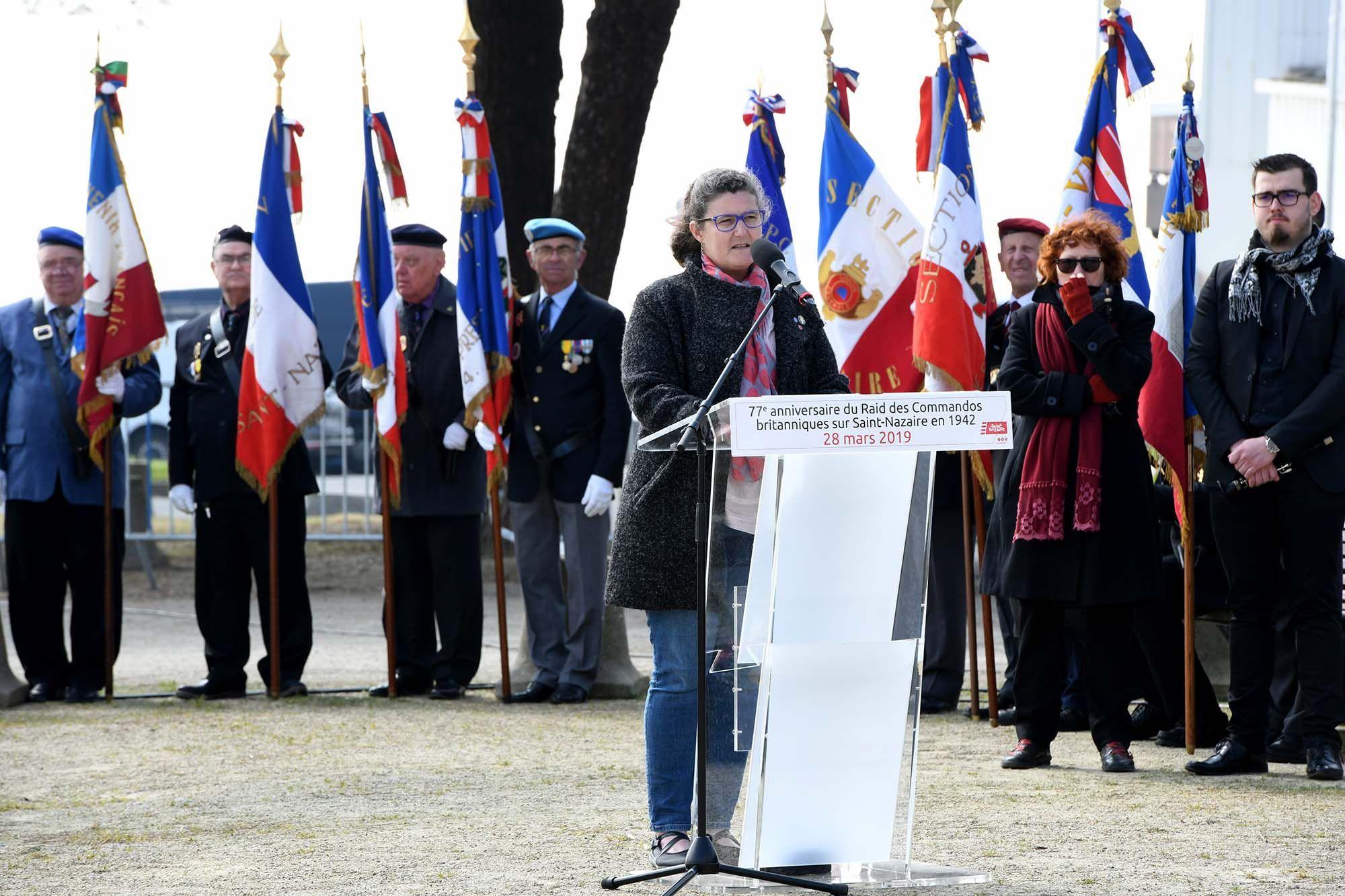 Intervention de Mme Elissa André, présidente de la Saint-Nazaire Society France.