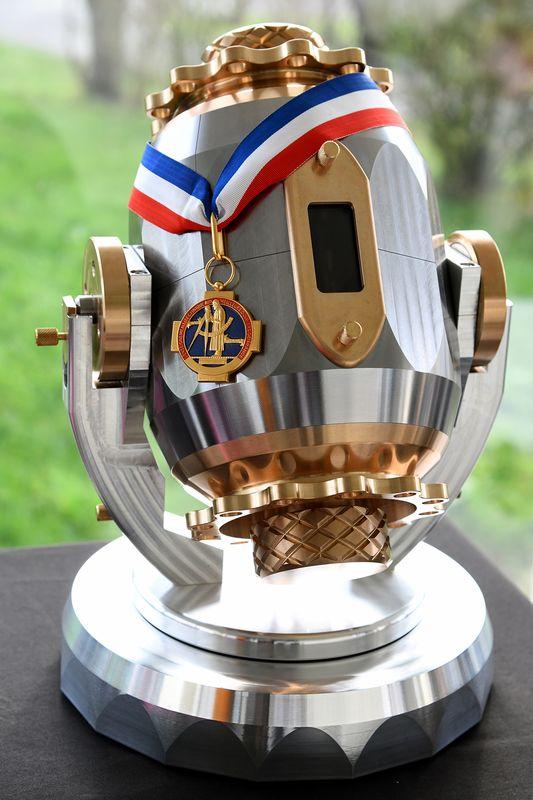 La médaille de Meilleur ouvrier de France récompense Romain Josso pour la réalisation de ce mécanisme. (©Ville de Saint-Nazaire - Christian Robert)
