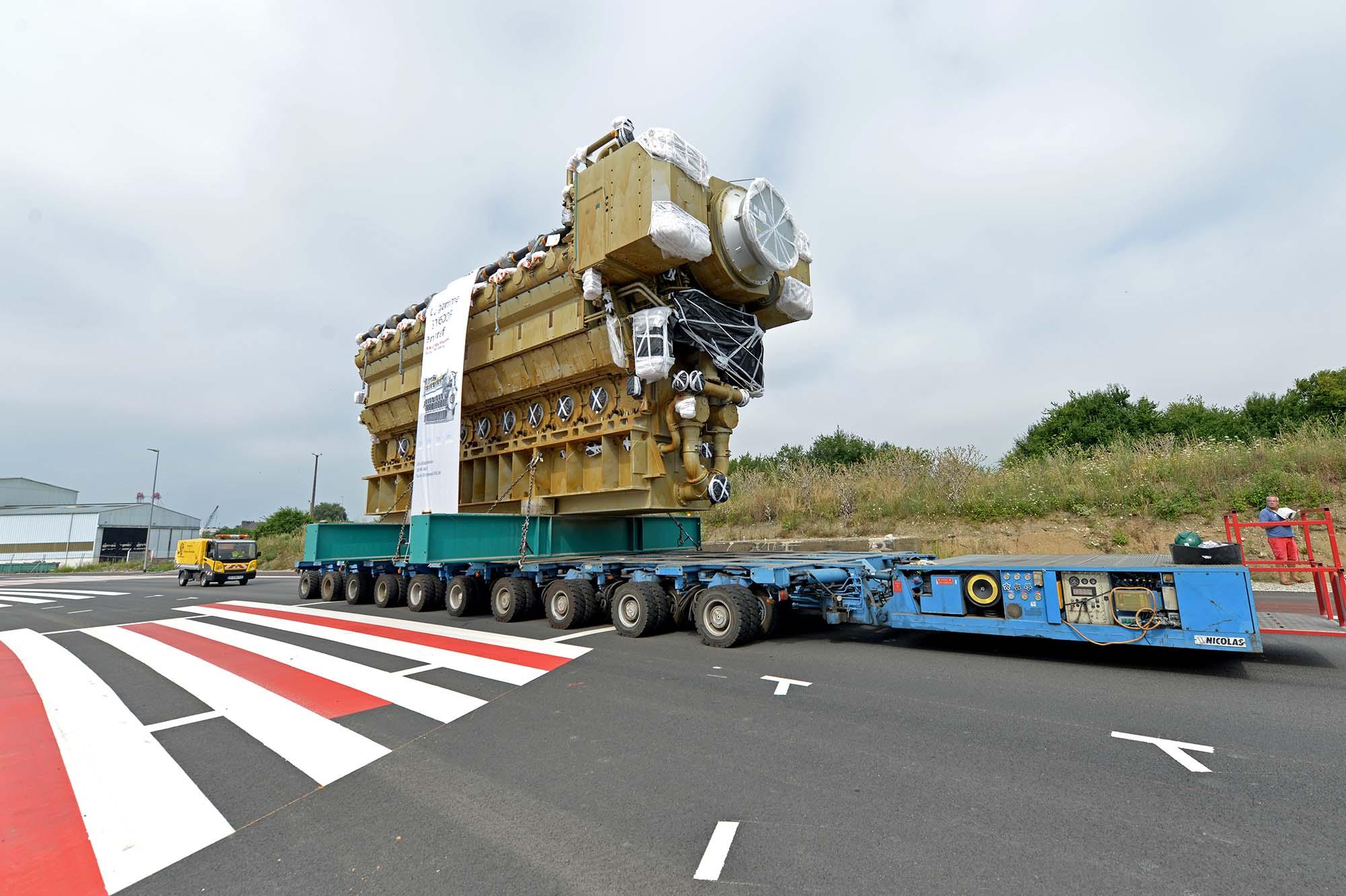 Moteur de centrale électrique de 320 tonnes (©Ville de Saint-Nazaire - Martin Launay)