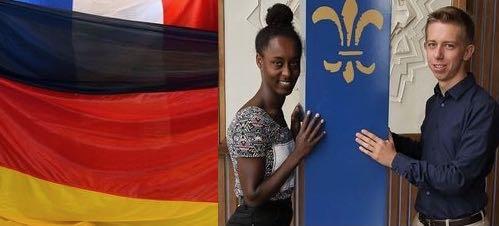 Paloma Guinaudeau et Julian Heidt réalisent respectivement leur service civique au sein des Villes de Saarlouis et de Saint-Nazaire.