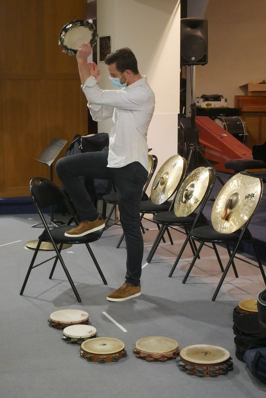 Hans Loirs, percussionniste solo à l'ONPL
